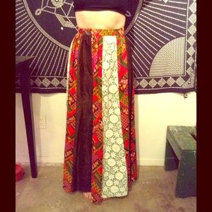 VINTAGE maxi hippie skirt renegade fest wear